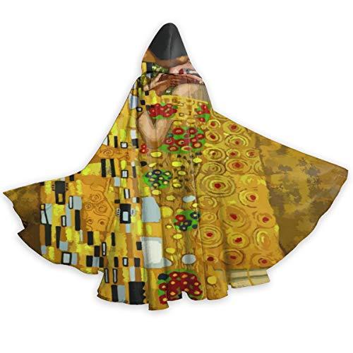 Gustav Klimt Kisses Unisex Halloween Adult Hooded Christmas Cloak Cloak Uniform