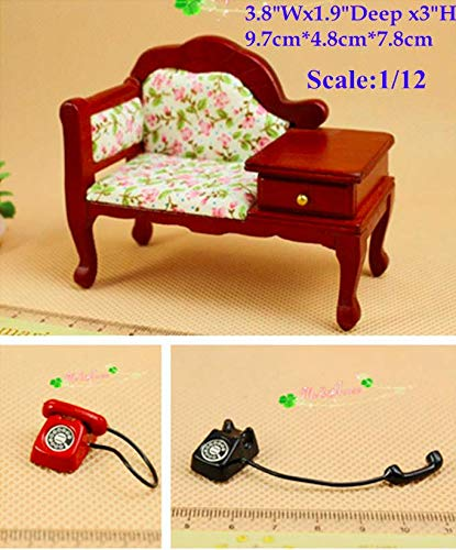 Excellent Amazon Com 1 12 Dollhouse Miniature Sofa Telephone Stand Creativecarmelina Interior Chair Design Creativecarmelinacom