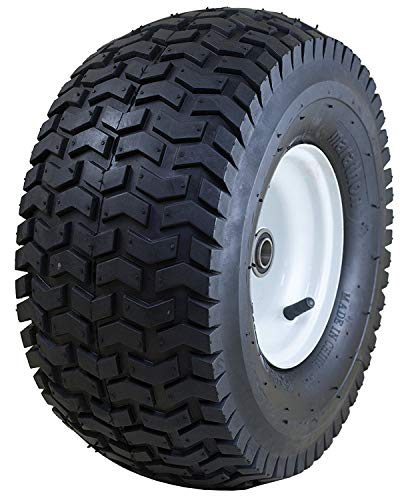 "Marathon 15x6.50-6"" Pneumatic (Air Filled) Tire on Wheel, 3"" Hub, 3/4"" Bushing"