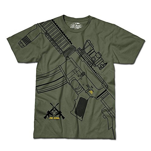 62 o para Camiseta oliva verde 7 hombre Dise qTwfx1SCx