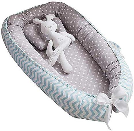 Tumbona para beb/é Puzzlos Idea para reci/én Nacidos para Cosleeping 1# Nido Transpirable para reci/én Nacido Funda extra/íble con algod/ón org/ánico Supersuave