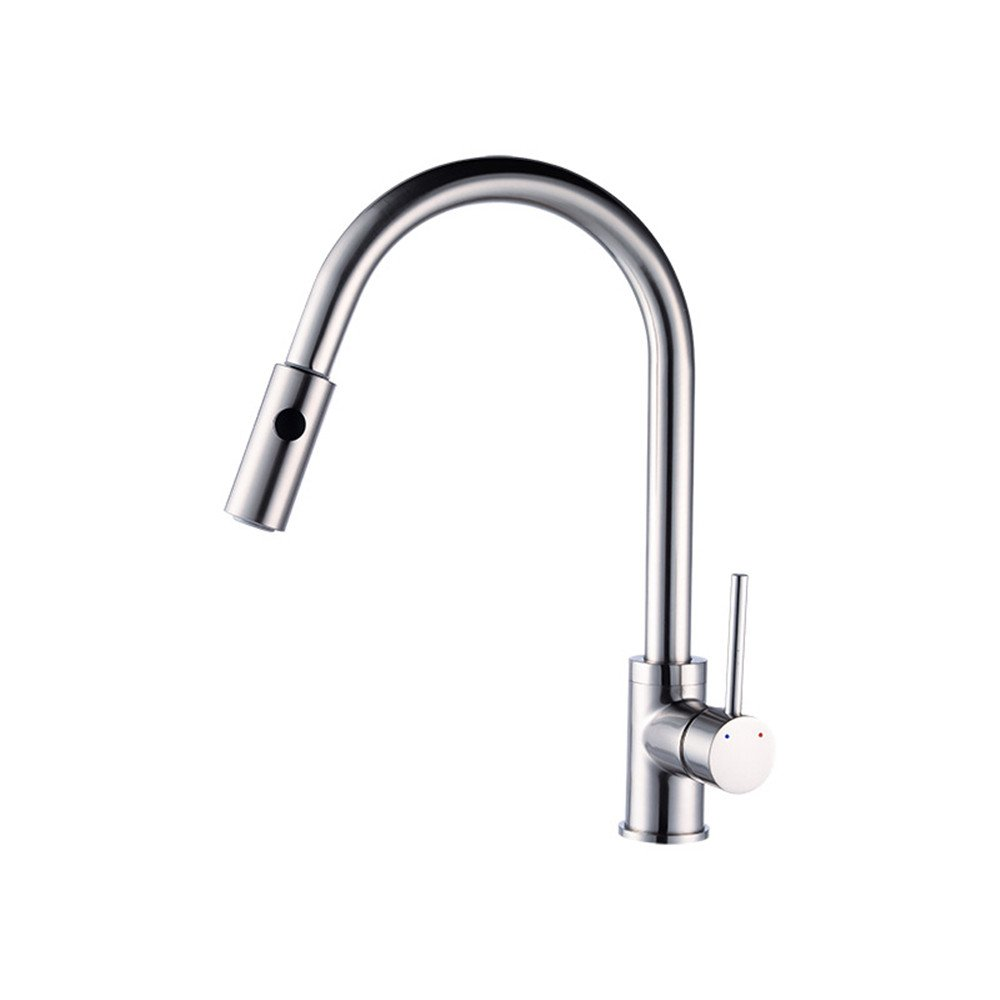MIAORUI Washbasin faucet kitchen faucet single hole cold and hot flume water faucet healthy full copper body faucet
