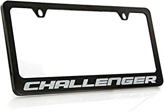 product image for Dodge Challenger Black Coated Metal License Plate Frame Holder