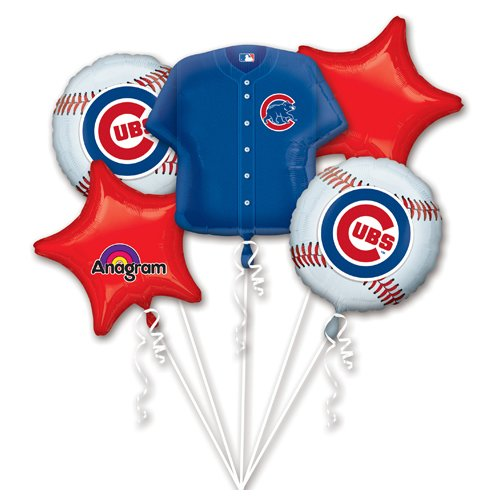 Anagram 32040 Chicago Cubs Balloon Bouquet, Multicolored ()