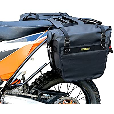 Nelson-Rigg Black SE-3050-BLK Sierra Dry Saddlebags 100% Waterproof Mount to Most Adventure and Dual Sport Motorcycles: Automotive