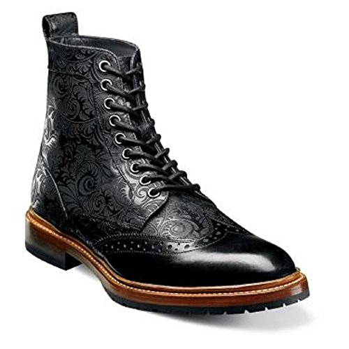 Stacy Adams M2 Wingtip Botte - Noir 8,5 M