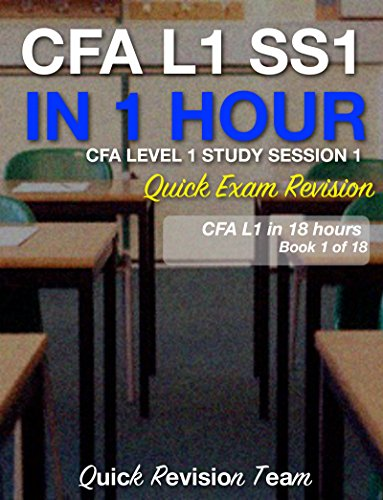 CFA LEVEL 1 STUDY SESSION 1 IN ONE HOUR – QUICK EXAM REVISION (CFA LEVEL 1 EXAM PREP IN 18 HOURS)