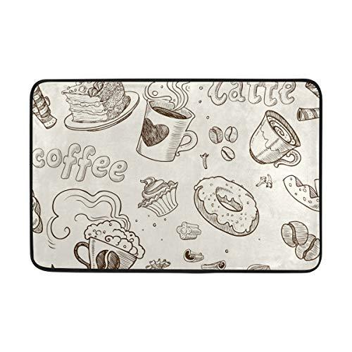 S Husky Small Doormat Funny Europe and America Dessert Pattern Creative Design Modern Minimalist Indoor Door Mat, Bedroom, Front Door, Bathroom, Kitchen etc Mats, Anti-Slip, 23.6 x 15.7 in 2040322