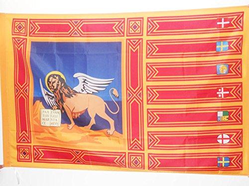 AZ FLAG Bandiera Veneto 150x90cm - Bandiera Veneta - REGIONE Italia 90 x 150 cm Foro per Asta