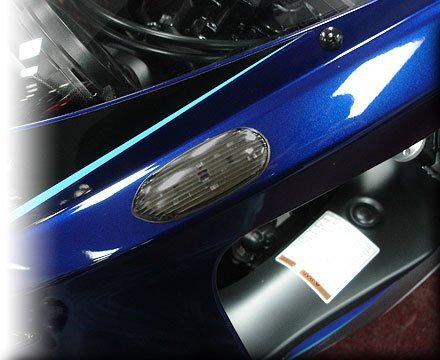 Price comparison product image 06-09 Suzuki GSX-R750 Hotbodies Racing Flush Mount Turn Signals, Smoked Lens