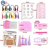 Lavenz DIY Paper Quilling Tool Craft Rolling Kit Slotted Tools Strips Tweezer Pins Slotted Paper Quilling For Decoration Tools Artwork