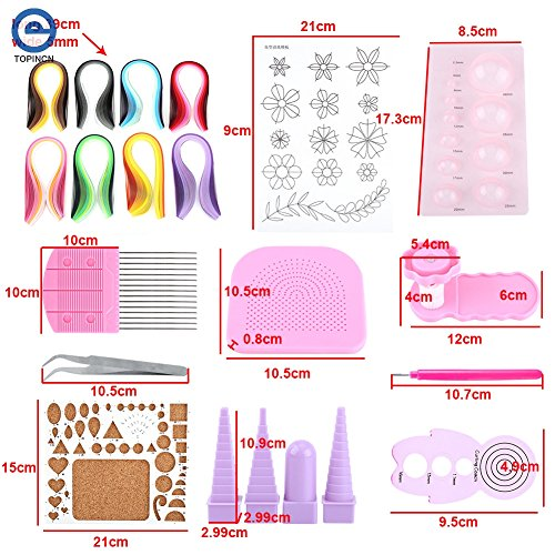 Lavenz DIY Paper Quilling Tool Craft Rolling Kit Slotted Tools Strips Tweezer Pins Slotted Paper Quilling For Decoration Tools Artwork by Lavenz