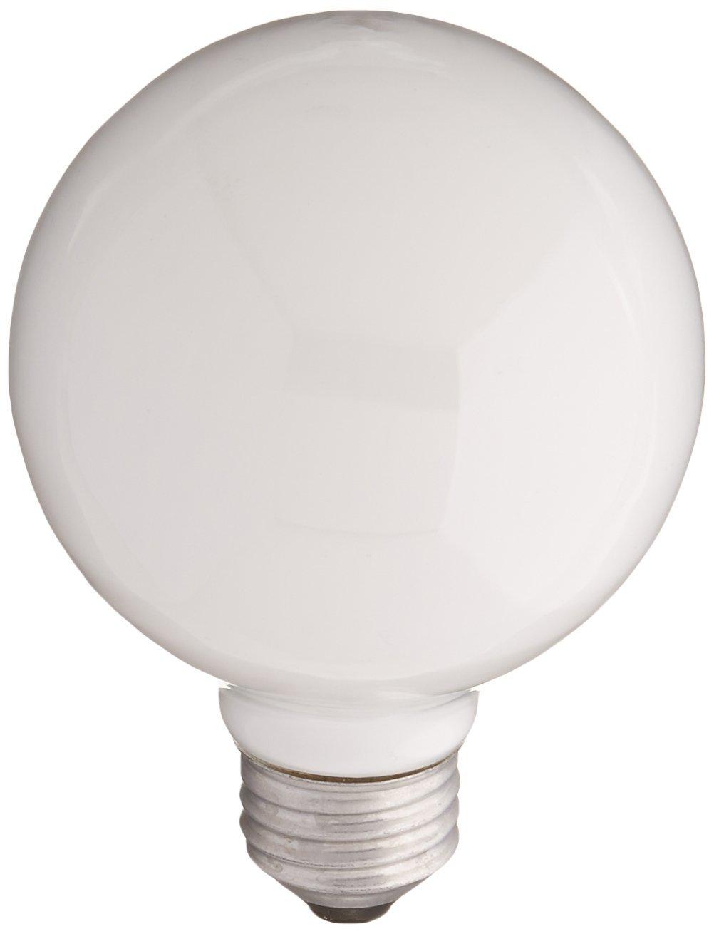Sylvania Lighting 60W/WHITE/G25 White Globe Light Bulb 60watt(pack of 6)