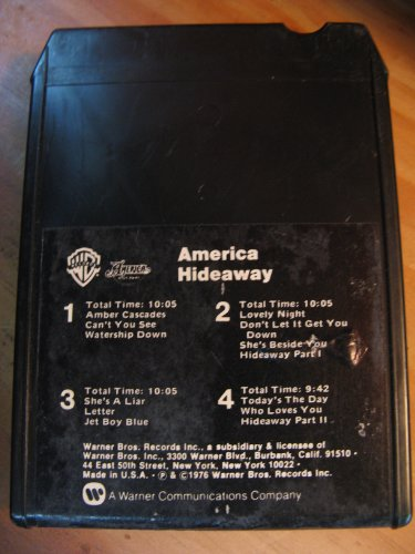 America: Hideaway (Warner Brothers Records # WB M8 2932 -8-Track Tape- 1976)