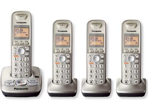 Panasonic KXTG4224N DECT 6.0 4-Handset Phone System with Answering Capability (6.0 Handset Four)