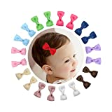 Shemay 10 Pairs 2'' Tiny Boutique Grosgrain Ribbon Hair Bow Alligator Clips Barrettes for Baby Girls Toddlers Kids