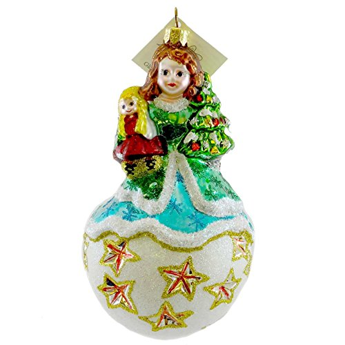 Larry Fraga MONICA Blown Glass Ornament Christmas Doll ()