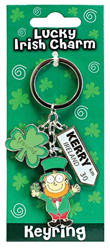Lucky Irish Charm Keyring Leprechaun Kerry Ireland