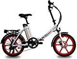 Ness Icon Folding Electric Bike (Red)
