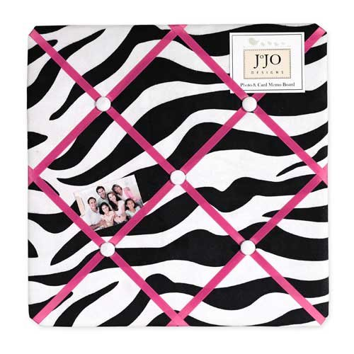 Sweet Jojo Designs Funky Zebra Fabric Memory/Memo Photo Bulletin Board