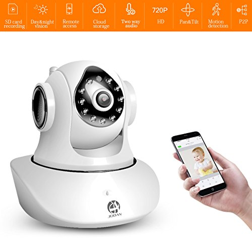 JOOAN Baby Monitor, WiFi Wireless Camera HD 720P Network Camera Home Security with Phone & PC Remote Access Two-way Audio