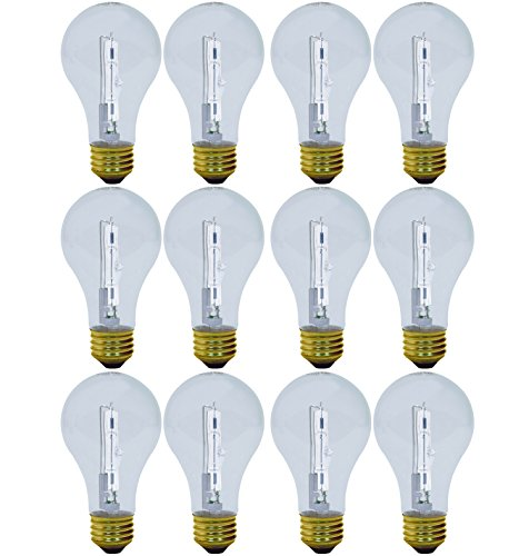 - GE Lighting 62616 Reveal Clear 43-Watt (60-watt replacement) 565-Lumen A19 Light Bulb with Medium Base, 12-Pack