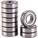 XiKe 10 Pack 6001ZZ Precision Bearings 12x28x8mm, Rotate Quiet High Speed and Durable, Double Shield and Pre-Lubricated, Deep Groove Ball Bearings.