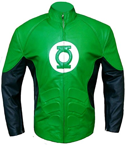 Green Lantern Ryan Reynolds Leather Jacket , FAUX Leather , XL -
