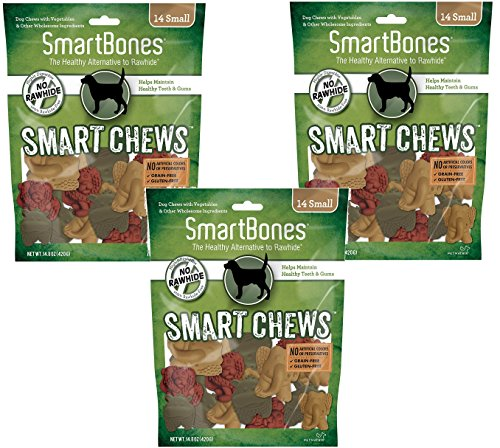 (3 Pack) Smartchews Safari Chews For Dogs, Small, 14 Pieces Each
