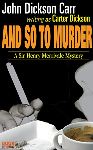 book cover of And So To Murder