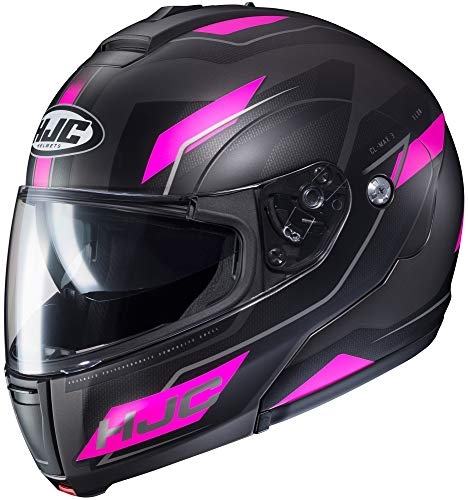 HJC Flow Women's CL-MAX 3 Modular Street Motorcycle Helmet - MC-8SF / Medium