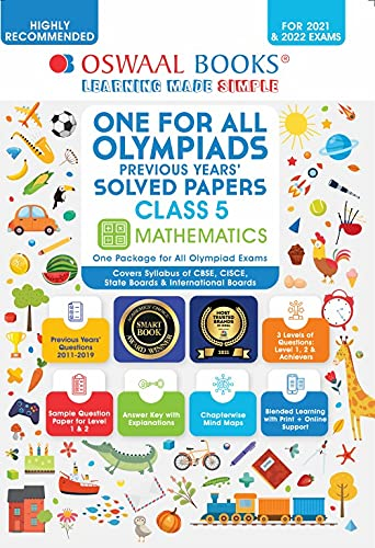 One for All Olympiad Solved Papers, Class-5 Mathematics Book (For 2021 Exam)