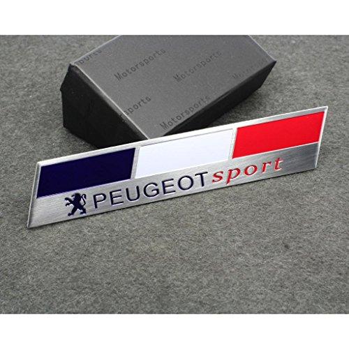 Car Styling Accessories C171 Emblem Badge Decal Sticker PEUGEOT France Sport Racing Motorsport For 207 307 301 308 408 508 3008