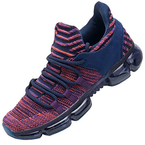 RomenSi Womens Air Running Tennis Shoes Fashion Lightweight Thick Laces Gym Sport Workout Fitness Athletic Walking Sneakers Purple 9.5 B(M) US