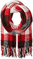 Woolrich Women's Boucle Plaid Wrap, Old Red, One Size