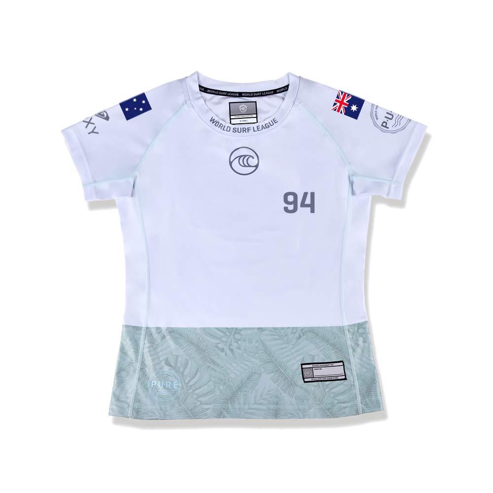 Official WSL Bronte Macaulay AUS Womens Athlete Jersey Surf Wear White//Silver