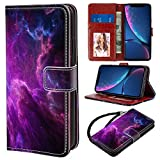 YOKIRIN iPhone Xr Wallet case Durable Slim, Lightweight with Classic Design & Ultra-Strong Magnetic Closure, Faux Leather for iPhone Xr