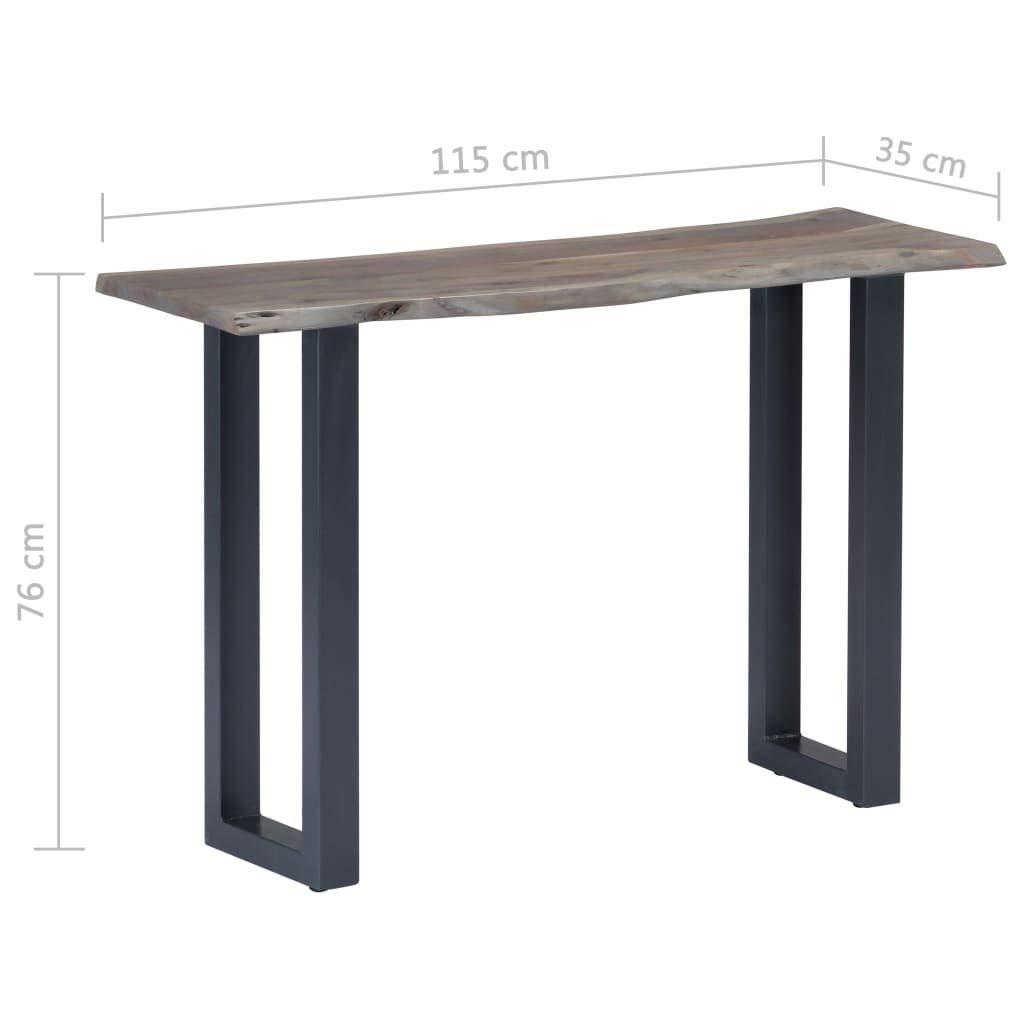 Table d/'entr/ée Vintage 115 x 35 x 76 cm Bois dacacia Massif et Fer Gris Tidyard Table Console Industriel