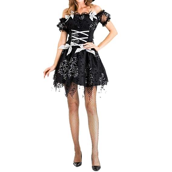 KUSUOU Disfraz de Cosplay de Halloween para Mujer Vestido Largo de ...
