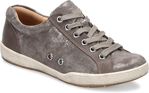 Comfortiva Lyons Smoke Distressed Foil Suede Women's Shoes