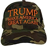 Donald Trump Camo NEON ORANGE Printed Letters Cap Hat 2016 Make America Great Again