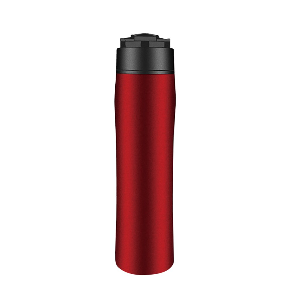 Yunt French Press Coffee Maker Portable Coffee Tea Maker Bottle Travel Mug Tumbler for Home Office School Travel Outdoor Use, 350ML 12OZ (Red) by Yunt (Image #1)