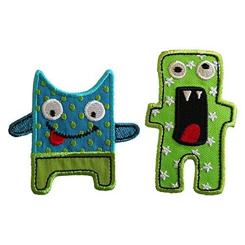 Scary Monsters 5X7Cm Cheeky Monster 7X6Cm Iron-On Designer Patch Used For Gifts Crafts Jeans Clothing Fabric To Iron On Bunting Door Bunting Flag Trousers Bag Backpack Ceiling Neckerchief Scarf Jacke (Fabrics Clothing Designer)