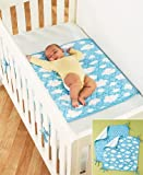 Sets of 2 Oversized Water-Resistant Crib Sheet Savers ( Clouds )