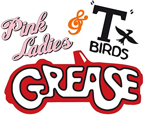 (Pink Ladies & T-Birds - Grease - For Light-Colored Materials - Iron On Heat Transfer 8.5