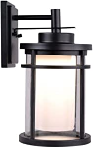 Home Decorators Collection, DW7178BK, LED Outdoor Black Medium Wall Light