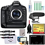 Canon EOS 1D X Mark II 4K Digital SLR Camera with 128GB Card & Reader + Microphone & LED Video Light + Kit
