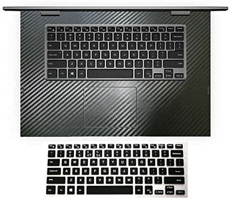 Black Carbon Fiber Wrist Palmrest Skin with Trackpad Cover US Layout Black Keyboard Protector for Dell Inspiron 15-5000 Series Model 15-5558