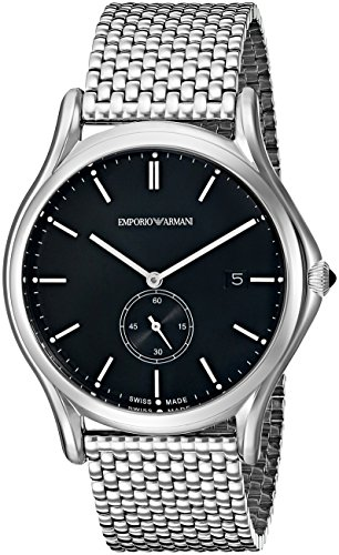 Emporio-Armani-Swiss-Made-Mens-ARS1005-Analog-Display-Swiss-Quartz-Silver-Watch