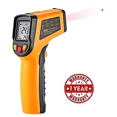 Laser Infrared Thermometer,Joyhero Non-contact Digital Infrared Thermometer -58¨H~ 752¨H£¨-50¡ãC to +400¡ãC£Temperature Gun with Temperature Alarm Adjustable EMS DIF/MAX/MIN/AVG Measurements ¡